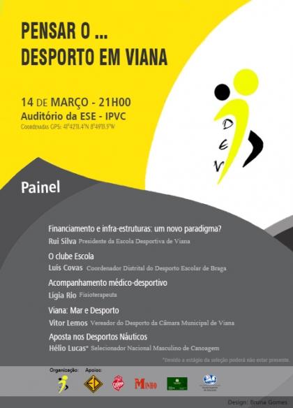 """""""Pensar o…Desporto em Viana"""" encerra sexta-feira ciclo de  conferências"""