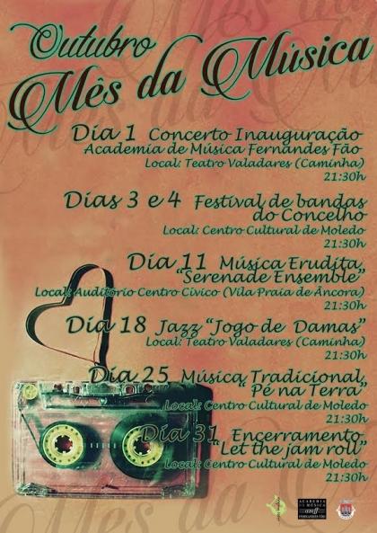 Caminha vai dedicar o mês de Outubro à música
