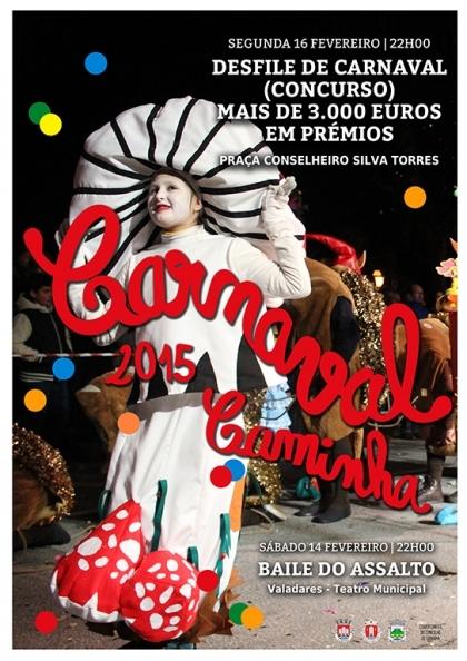Caminha: Desfile noturno do Carnaval realiza-se esta segunda-feira