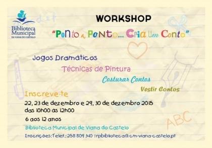 Viana: Biblioteca Municipal acolhe workshop 'Ponto a Ponto... cria um conto' nos dias 29 e 30