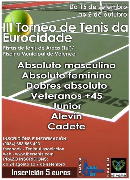 Valença/Tui: Torneio de Ténis da Eurocidade começa quinta-feira