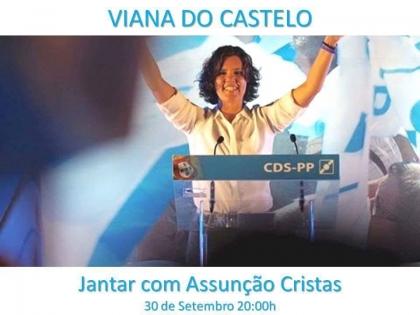 Viana: Assunção Cristas vai estar presente no jantar de tomada de posse da Concelhia do CDS