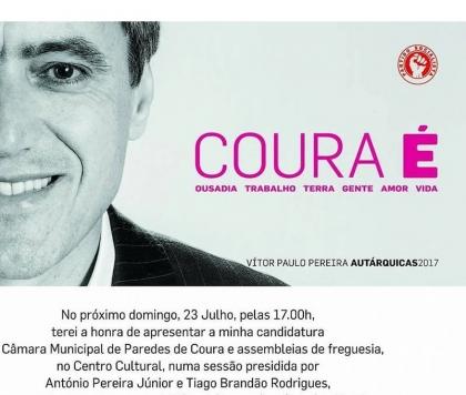 Paredes de Coura: Ministro da Educação na apresentação da candidatura de Vítor Paulo Pereira