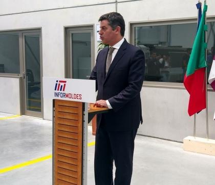 Valença: Ministro da Economia orgulhoso com nova unidade da Informoldes em Gandra