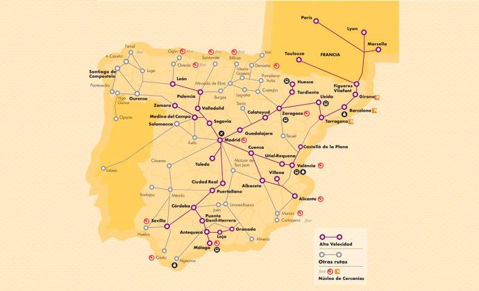 Galiza Mapa Da Renfe Coloca Cidade De Vigo Em Portugal